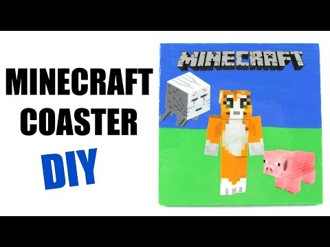 DIY Minecraft Coaster ~ Another Coaster Friday ~ Ghast, Pig & Stampy Cat