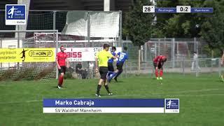 A-Junioren - 0:2  Marko Cabraja  - SSV Reutlingen 1905 Fußball vs SV Waldhof Mannheim