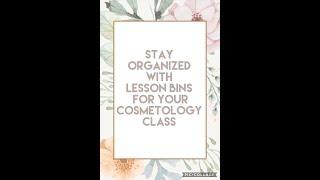 Lesson Bin Storage System