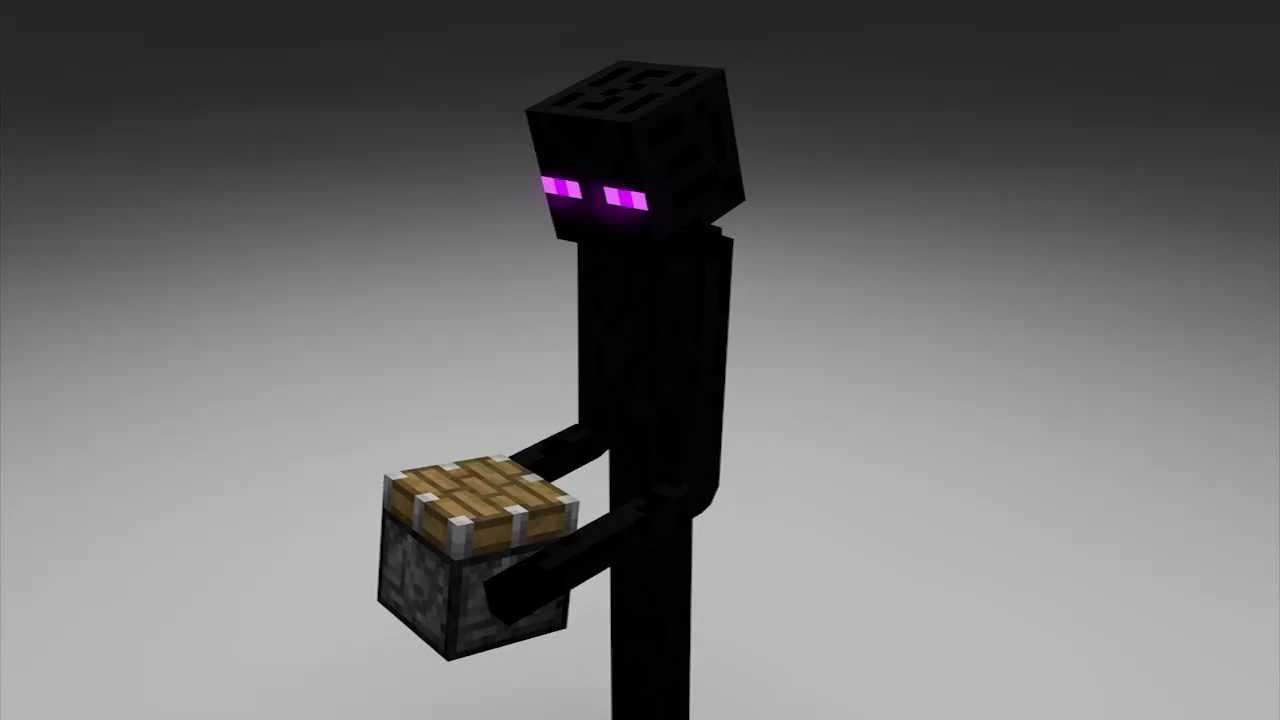 minecraft animation short enderman piston youtube