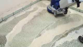 Diamantové čištění teraco dlažby