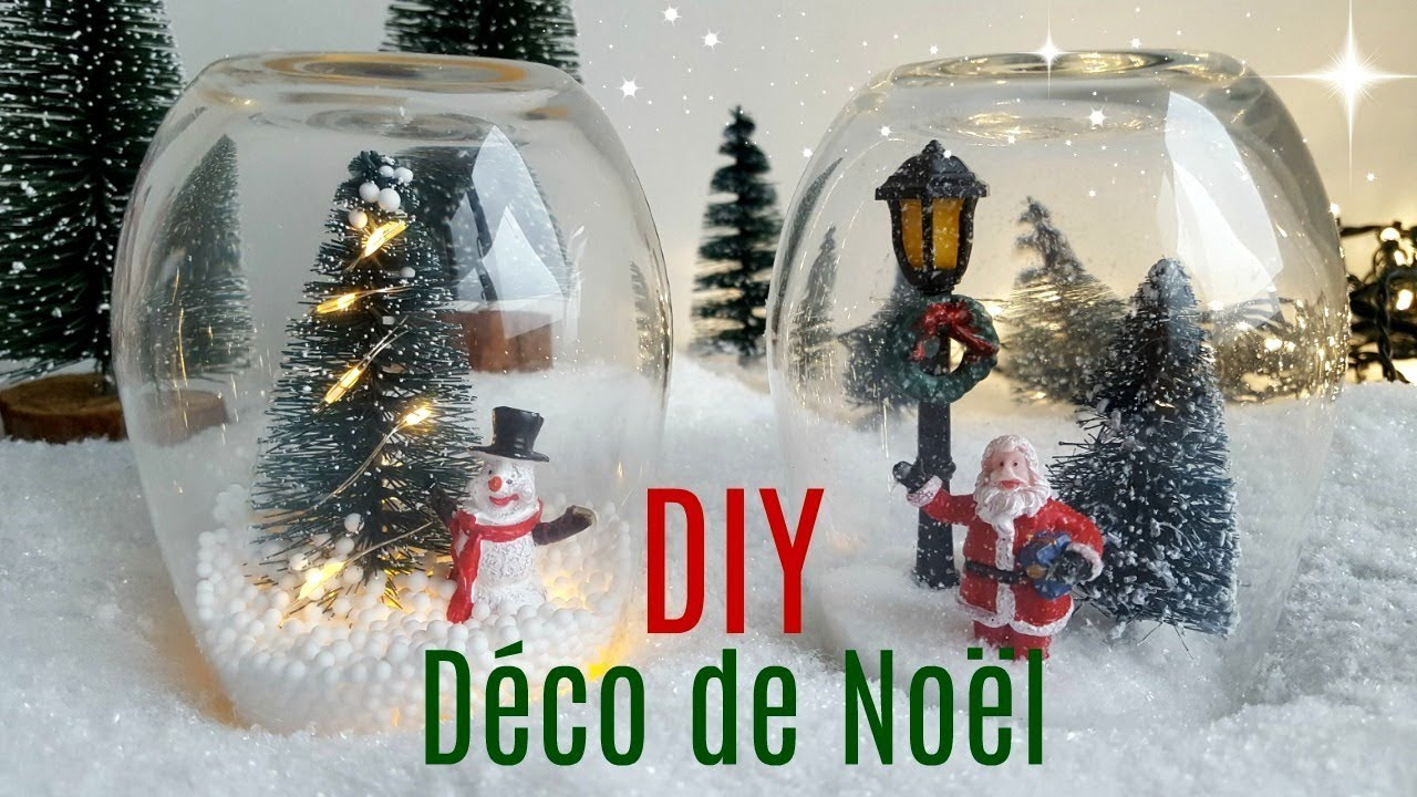diy cloches en verre d coration de no l youtube