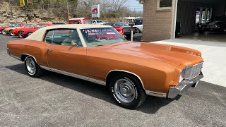 Test Drive 1971 Chevrolet Monte Carlo $14,900 Maple Motors #952-1