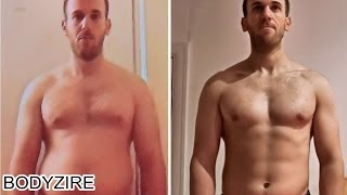 Fat To Fit Muscular Body Transformation Men Motivation Before And After