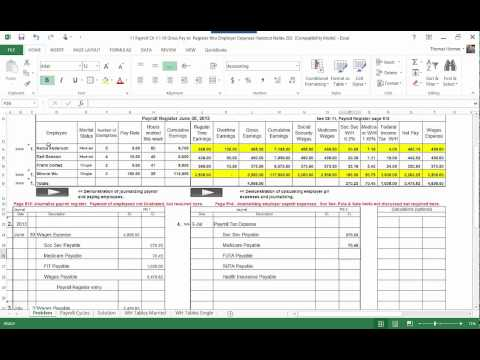 11 A Calculating and Journalizing the employer payroll expenses MP4 B