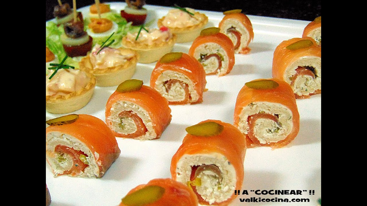 Rollitos de salm n y pan de molde youtube for Canape de salmon ahumado
