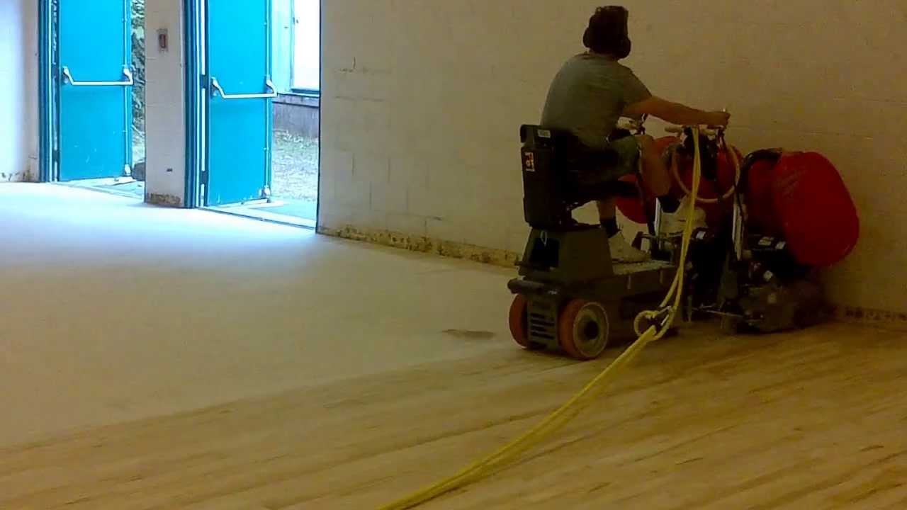 hardwood floor sanding machine rental