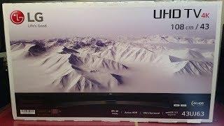 "LG 43UJ635V 43"" 4K HDR Smart TV Unboxing - IPS Screen, UHD 4k, Freeview HD + Freesat HD Tuners"