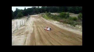 2 stroke motocross crash crowhill mx park jump cut corner crash