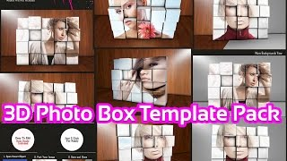 How to create 3D Photo Box Mock up Photoshop