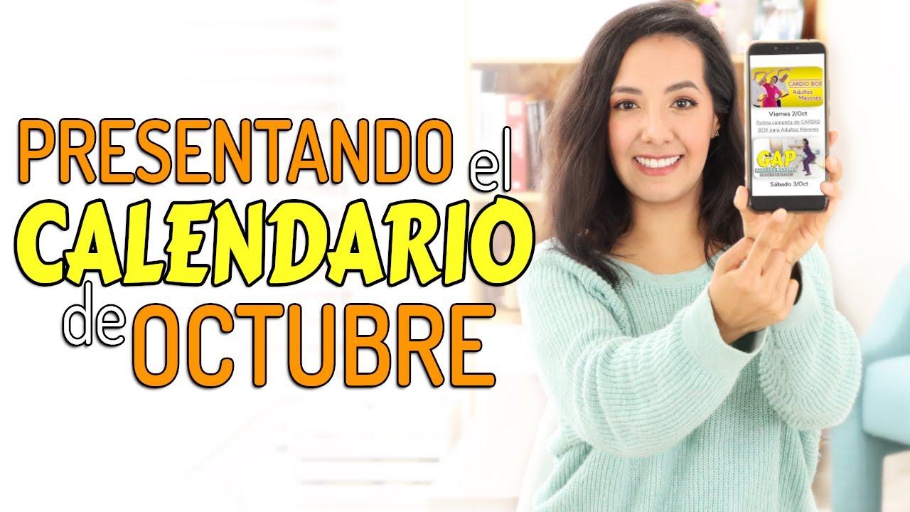 Presentación del Calendario de Octubre | Fisioterapia Querétaro