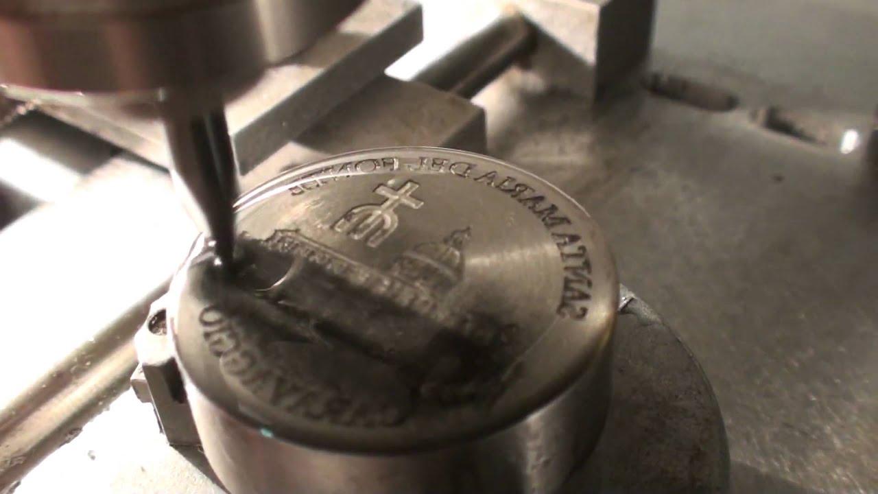 Roland Egx 350 Engraving A Coin Die Youtube