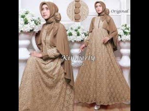 Jual Gamis Duyung Brokat Wa 62 831 0413 1538 Long Dress Youtube