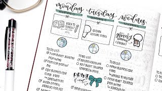 Vertical Bullet Journal Plan With Me + GIVEAWAY