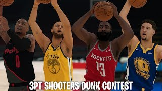 Best NBA Three Point Shooters In A Dunk Contest! | NBA 2K19!