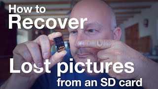 How to recover lost pictures from an SD card