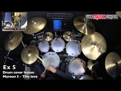 Maroon 5 - This love - FREE DRUM LESSON
