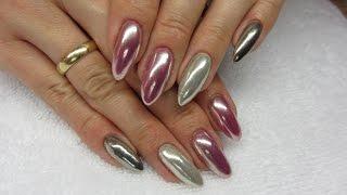 Efekt Chromu na różnych kolorach - Metal Manix Multi Chrome Indigo Nails & Madam Glam - Chrome Nails