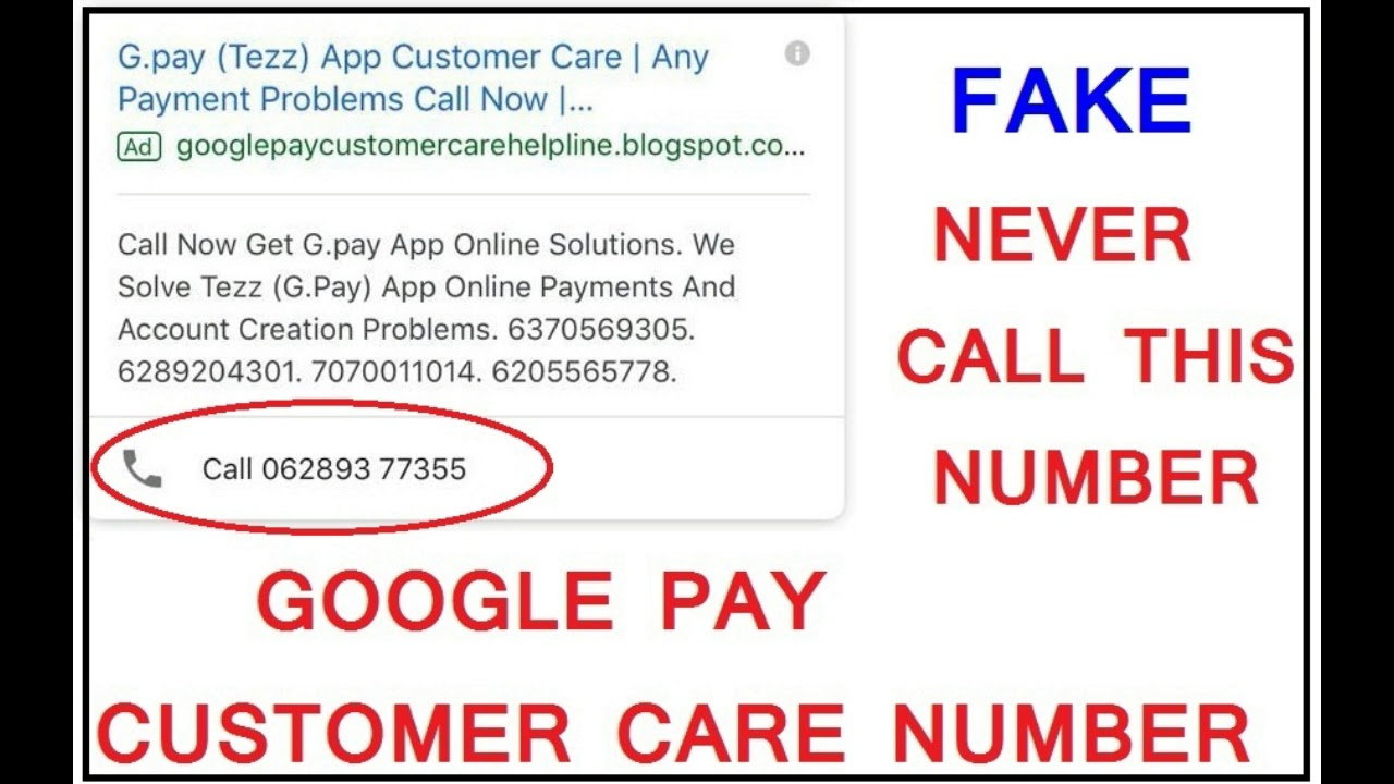 Never Call This Fake Google Pay Or Tez App Customer Care Number