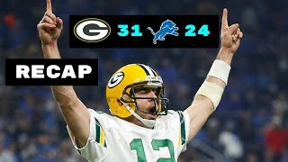 Green Bay Packers vs. Detroit Lions Sunday Night Football Recap Week 17 1/1/17