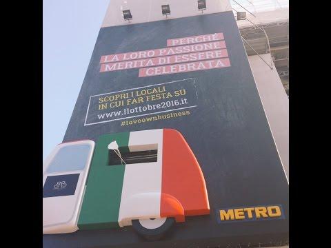 METRO Italia lancia il primo Street Vertical Food