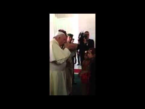Pope Francis in Jordan Receives Gift