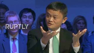 Switzerland׃ Alibaba founder Jack Ma slams the US' economic policies
