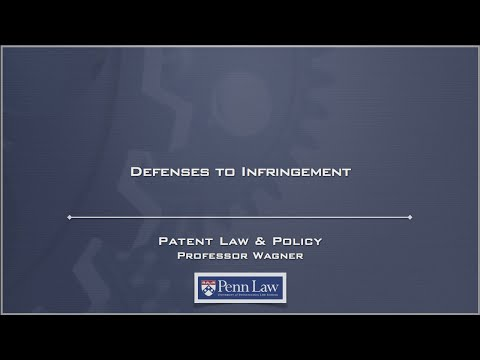 Lecture 18 - Defenses to Infringement