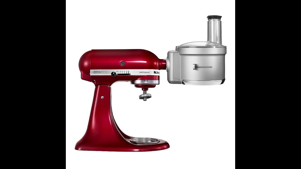 Food Processor Attachment for KitchenAid Stand Mixer Demo - YouTube