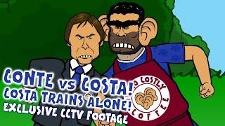 Diego Costa TRAINS ALONE! Costa vs Conte! Costa to China? EXCLUSIVE CCTV FOOTAGE (Parody)