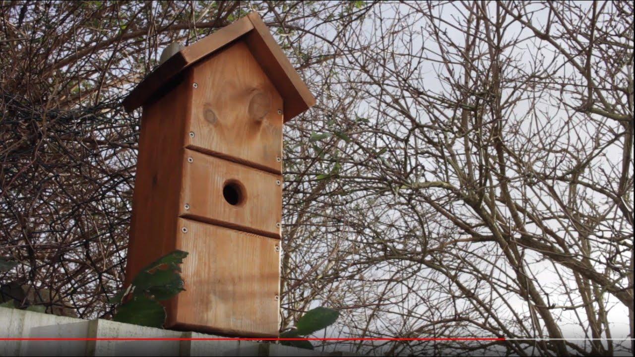 Bird Nesting Box Handmade Square Log Hut