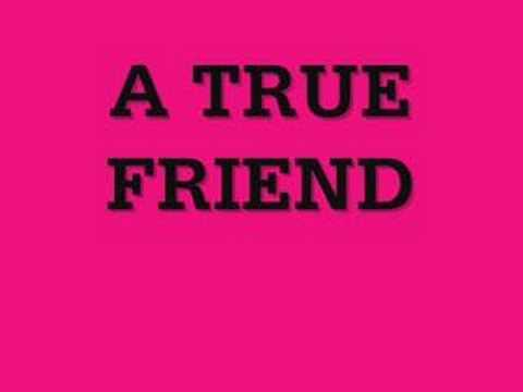 TRUE FRIENDS  LYRICS
