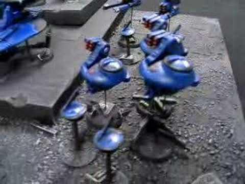 Blue Table Painting- Tau Drone Army - YouTube