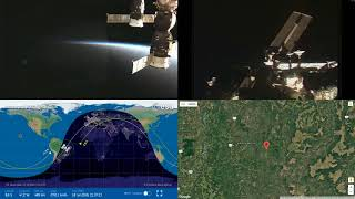 Sunset Over South America - NASA/ESA ISS LIVE Space Station With Map - 30 - 2018-07-18