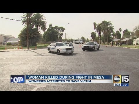 Mesa woman killed during fight