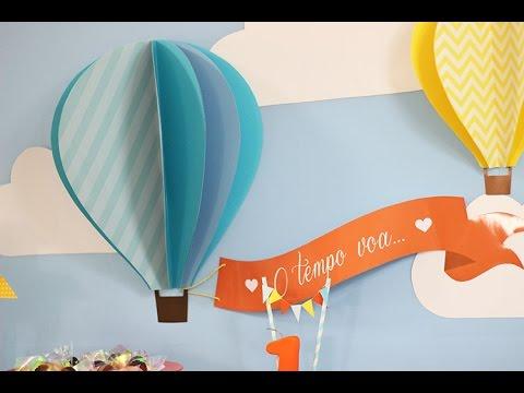 Como Fazer Um Balão 3d Para Decorar Sua Festa Youtube