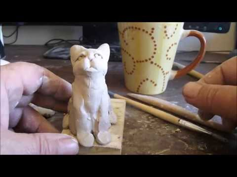 How To Sculpt A Cat In Clay
