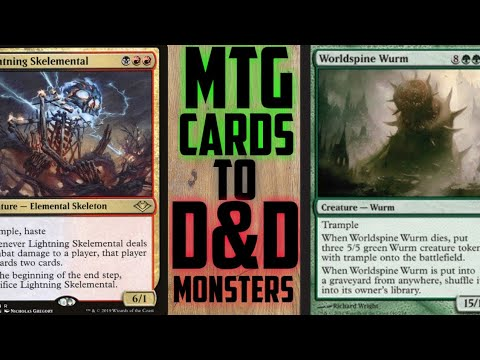 How I Turn MTG Cards into D&D Monsters