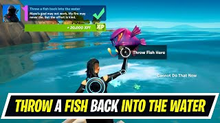Throw a fish back into the water location in Fortnite - Week 12 Epic Quests Challenges
