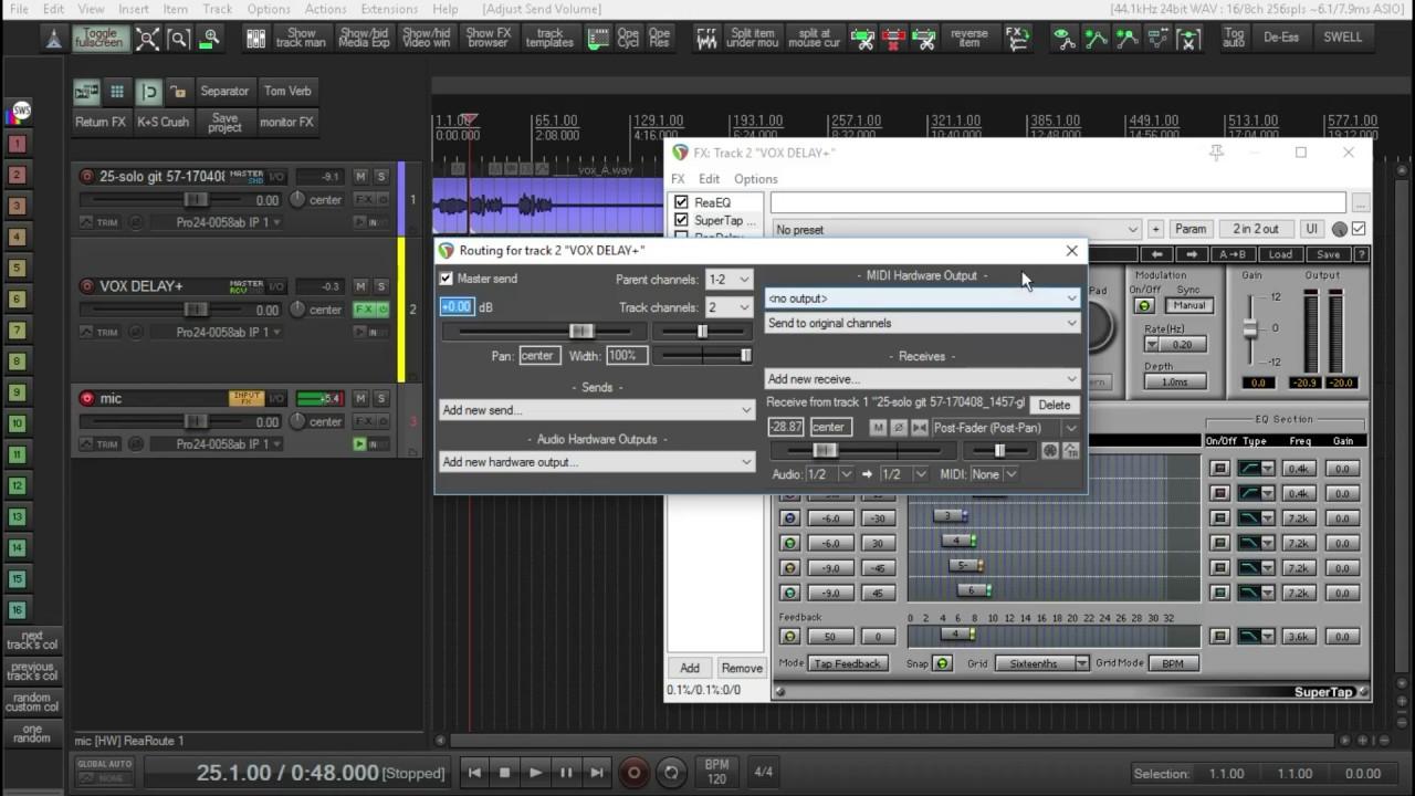 How to re-create a Dave Pensado waves multitap delay using readelay!