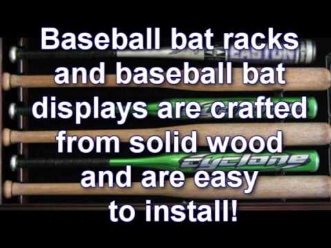 baseball bat racks baseball bat display cases from