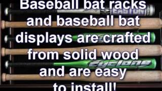 Baseball Bat Racks, Baseball Bat Display Cases From Displaygifts.com