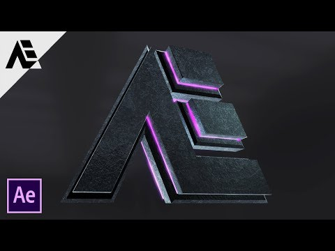 After Effects Tutorial: Element 3D Glossy Text & Logo Reveal || Dubstep In After Effects