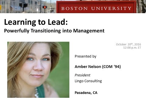 Learning to Lead: Powerfully Transitioning into Management