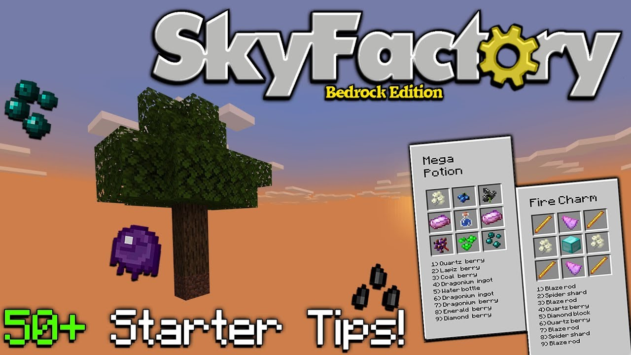 50+ Tips & Tricks for Skyfactory Bedrock Edition(Contains Spoilers)