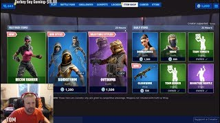 FORTNITE WOW NEW ITEM SHOP IS ROCKING NEW SKINS LIKE CRAZY