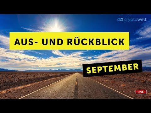 Aus- und Rückblick in der Cryptowelt im Monat September 2019