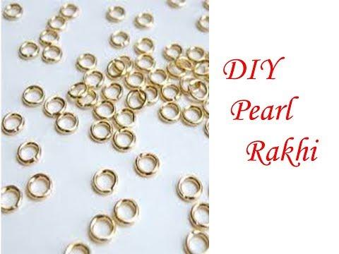 Making Awesome DIY Pearl Rakhi with Jump Ring | DIY Jump Ring Paper Rakhi | Handy Mandy Craft