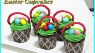 Easter Basket – Eggless Chocolate Cupcake