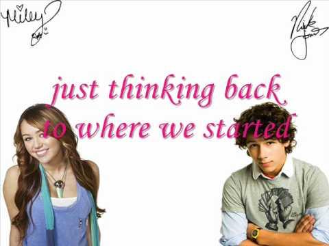 Miley Cyrus & Nick Jonas Before The Storm [Karaoke / Instrumental]
